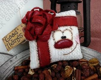 E-Pattern - Good Tidings Gift Pattern #132 - Primitive Doll E-Pattern - Christmas - Present - Gift - Package