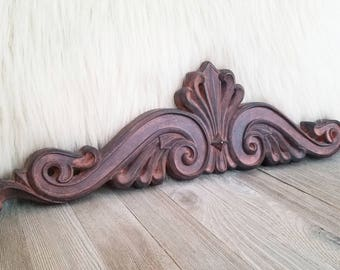 Fleur De Lis Architectural Accent for The Wall, Very Ornate Home Decor,