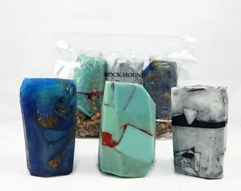Three Piece Rock Soap Set