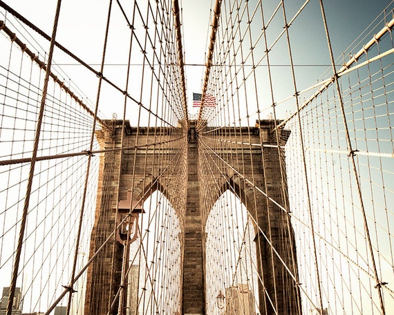 Art, Photography, New York City Art, Brooklyn Bridge, Urban, Wall Decor, Print, NYC, Cottage Light Studio