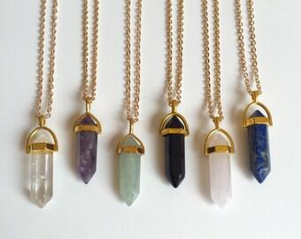 Quartz Necklaces, Gemstone Necklaces, Cristal Necklaces