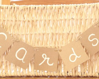 Cards Banner, mini Cards Banner, Cards Sign, Rustic Wedding, birthday, Shabby Chic Wedding, Reception Sign, Cards box,wedding banner