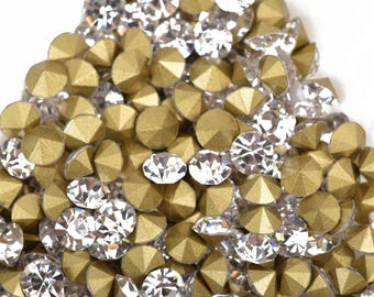 144 2.6mm crystals, pp20 CRYSTAL CLEAR Rhinestone Chatons - Grade A Glass, Quality Machine Cut Crystals 144 pcs  1 gross, Small   cry0074