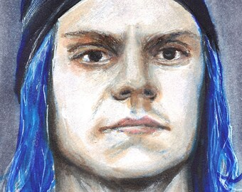 Evan Peters as Kai Anderson American Horror Story Cult Copic Marker Drawing Art Print  11.7 x 16.5 inches