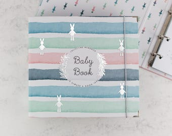 BABY MEMORY BOOK | Baby Book | Baby Gift | Baby Album | Baby Keepsake | Modern Baby Book | Binder Memory Book | Baby Shower Gift | Neutral