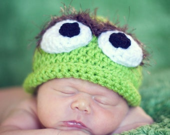 I'm a little grouch hat ALL sizes Newborn to Adult