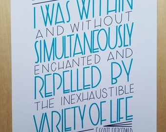 The Great Gatsby Quote Print