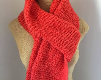 Wool scarf, orange