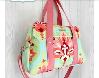 Unique Nappy bag/Diaper bag/Changing bag PDF advanced sewing pattern - by Sewing patterns by Mrs H