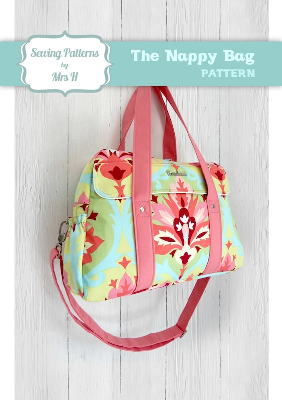 Unique Nappy bag/Diaper bag/Changing bag PDF advanced sewing pattern ...
