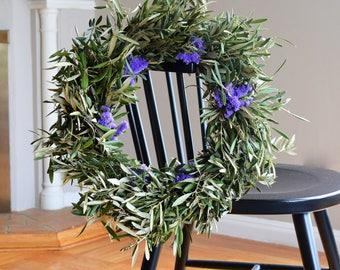 Sea Lavender and Olive Wreath   Spring Wreath   Spring Wreaths for Front Door   Olive Wreath   Wreaths for Easter   Outdoor Wreaths