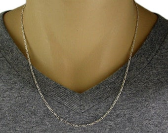 """925 Sterling Silver Figaro Chain Necklace - 050 Gauge 2 mm - 20""""/22""""/24"""""""