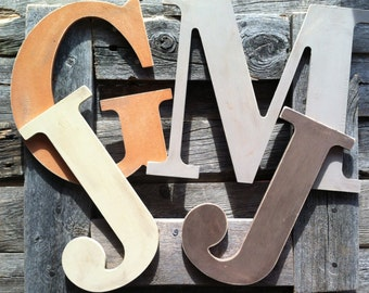 Wooden Letters, Custom Nursery Letters, Children's Room, Hanging Letters, Wedding Decor