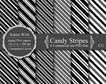 Candy Stripe Template digital overlay kit  commercial use layered psd, png templates