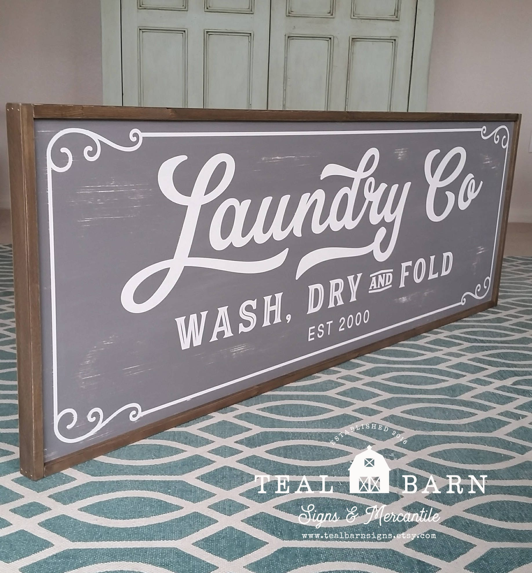 Laundry And Co Sign Laundry Co Wash Dry And Fold Personalized Sign Magnolia