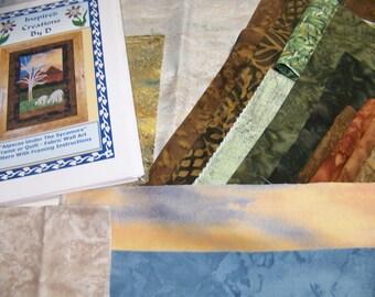 Alpakas unter der Platane Art Quilt Muster Kit