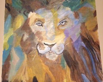 Acrylic painting - Lion