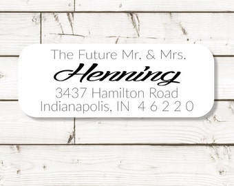 Return address label, address label, custom address label, white photo gloss label, rectangular label, wedding announcements - SET OF 30