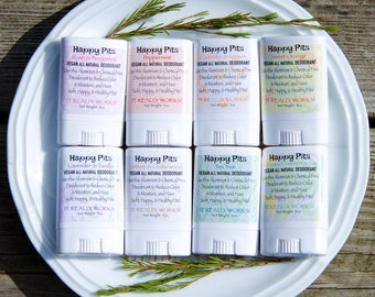 1 Travel Size Happy Pits Vegan Natural Deodorant