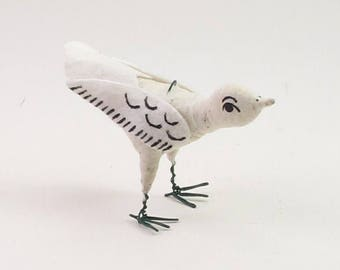 Vintage Inspired Spun Cotton Little Sparrow Figure/Ornament (MADE TO ORDER)