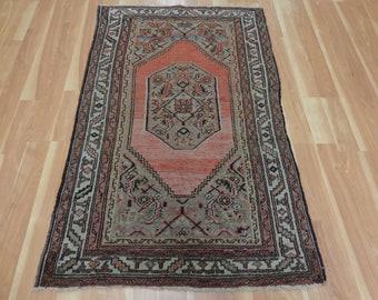 Persian Rug 3' 5 x 5' 5 Antique Grey