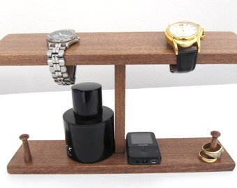 Men Watch Holder- Men Watch Stand - Watch Display with ring holder