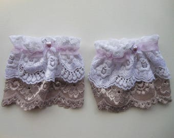 Sweet Lolita Lace Wrist Cuff Color Purple/Lilac