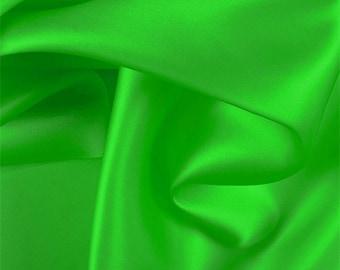 Green Silk Satin Organza, Fabric By The Yard