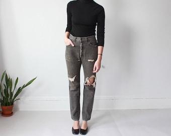 vintage distressed Levi 501 jeans black | vintage Levis 33W