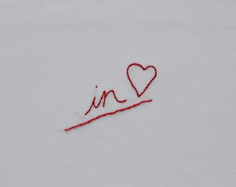 In<3 Hand Embroidered T-Shirt