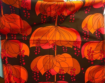 Alexander Henry Danika HTF out of print cotton fabric one yard brown orange red colorway