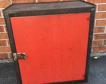 Vintage Metal Tool Cabinet