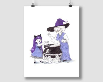 Witch Apprentice - Print