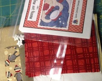 Monkey Love Mug Mat Kit with Pattern