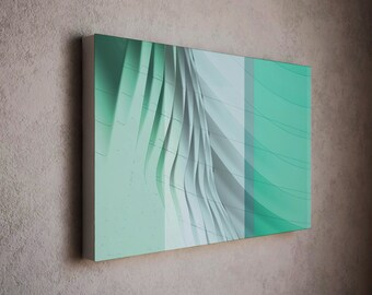 Canvas art print - mild colors and touch of interesting waving effect wall canvas / modern canvas art / wall art