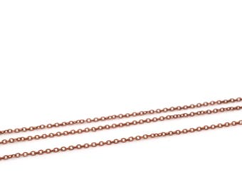 Copper plated brass antique 2.5 x 1.5 mm
