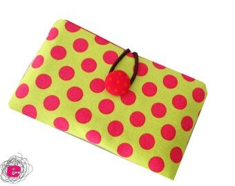 Cellphone pouch polka dots, Iphonesleeve dots