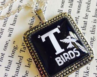 Danny Zuko T Birds Badge From the Grease Movie 25mm Square Pendant