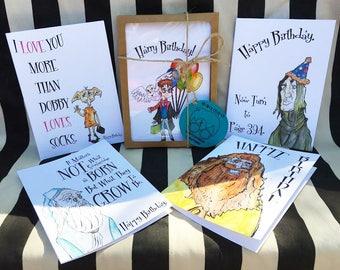 Harry Potter Birthday Card Set! (0f 5)