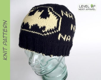 Dark Hero reversible beanie KNITTING PATTERN || Child, Adult || Instant Download