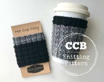 Cass Coffee Cozy / Cup Sleeve PATTERN - 2 Sizes