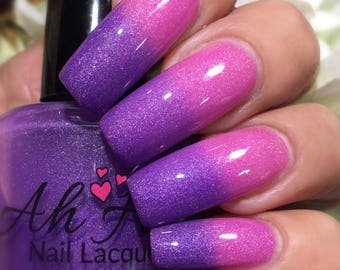 Powerful Punch Purple to Pink Thermal-Changing Shimmer Polish