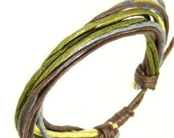 Cord bracelet / Leather wristband / Surf bracelet -0086