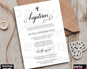 Diy baptism invite Etsy