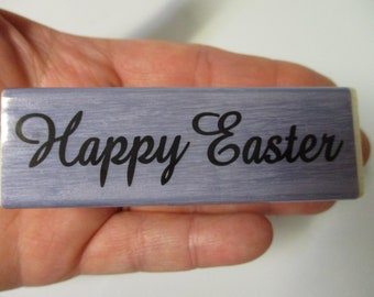 Happy Easter Rubber Stamp-Easter Stamps-Cursive Happy Easter Stamp