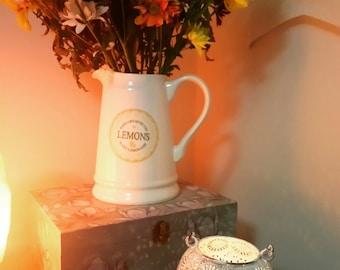White washed tealight lantern