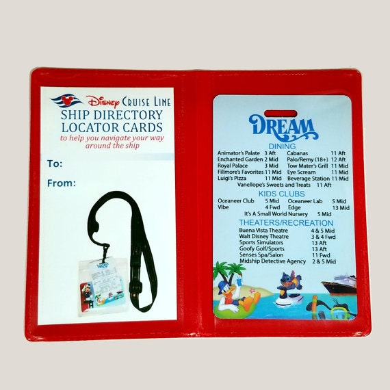 Ship Directory Deck Locator Card Disney Cruise Line Ship - Cruise ship locater