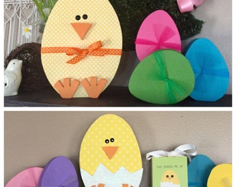 Wooden Easter Egg Chick