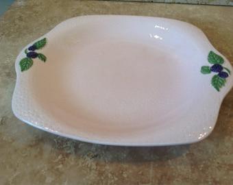 Pale pink raspberry plate