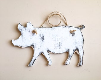 Distressed Pig Sign